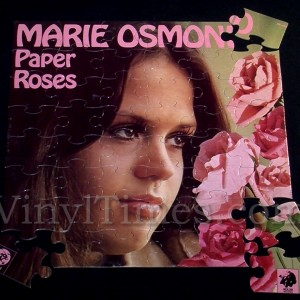 """Marie Osmond """"Paper Roses"""" Album Cover Jigsaw Puzzle"""