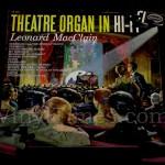 """Leonard MacClain """"Theatre Organ In Hi-Fi"""" Album Cover Jigsaw Puzzle"""