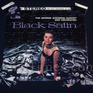 "George Shearing Quintet ""Black Satin"" Album Cover Jigsaw Puzzle"
