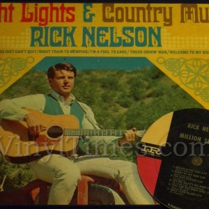 "Rick Nelson ""Bright Lights"" Vinyl LP Album Cover Mousepad with Vinyl LP Beverage Coaster"