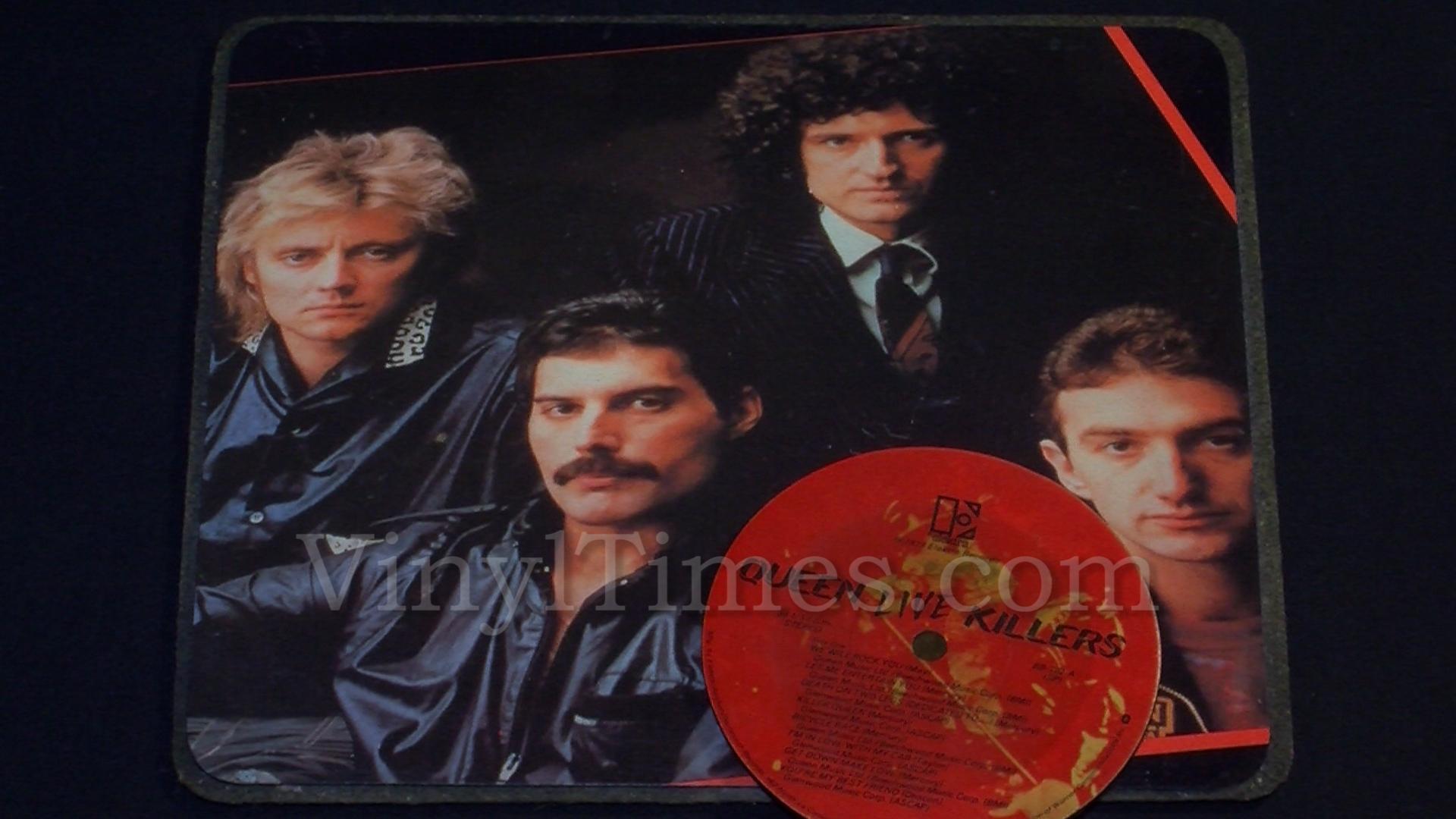 queen album cover mouse pad live killers vinyltimesvinyltimes. Black Bedroom Furniture Sets. Home Design Ideas