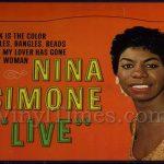 "Nina Simone ""Live"" Vinyl LP Album Cover Mousepad"