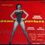 "Broadway Cast ""Damn Yankees"" Vinyl LP Record Album"