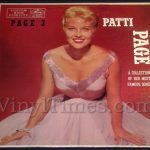"Patti Page ""Page 3"" Vinyl LP Record Album"