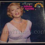 "218 Dinah Shore ""Love Songs"" Vinyl LP Record Album"