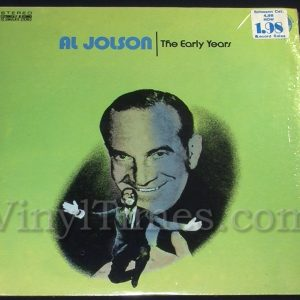 "221 Al Jolson ""The Early Years"" Vinyl LP Record Album"