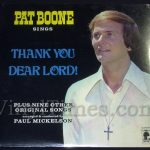 "250 Pat Boone ""Thank You Dear Lord"" Vinyl LP Record Album"