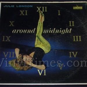 """268 Julie London """"Around Midnight"""" Vinyl LP Record Album"""