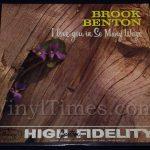 "338 Brook Benton - ""I Love You In So Many Ways"" Vinyl LP Record Album"