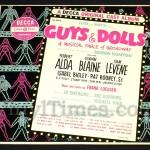 "376 Broadway - ""Guys and Dolls"" Vinyl LP Record Album"