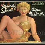 "422 Marie McDonald - ""The Body Sings"" Vinyl LP Record Album"