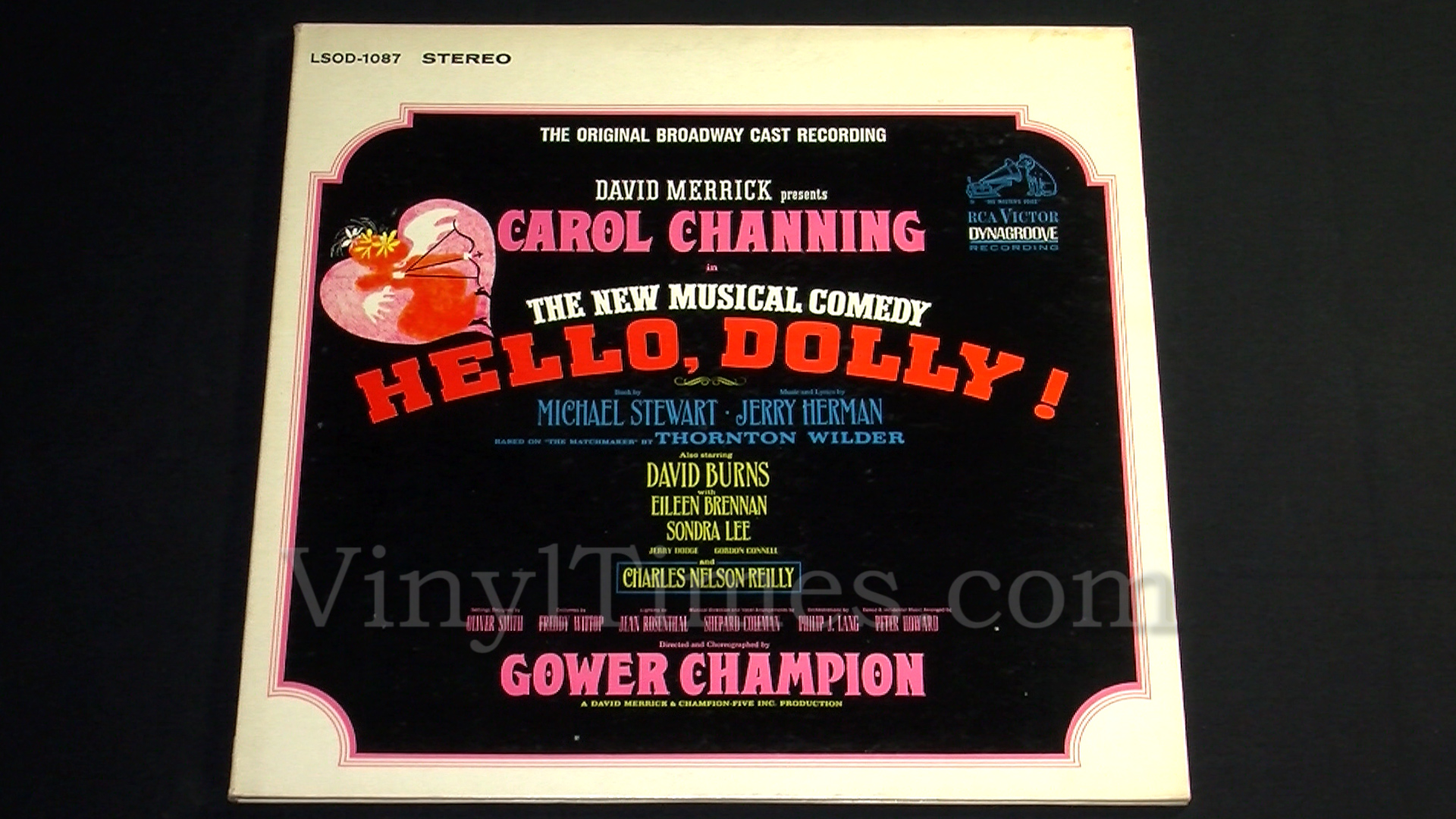 Carol Channing hello dolly vinyl record